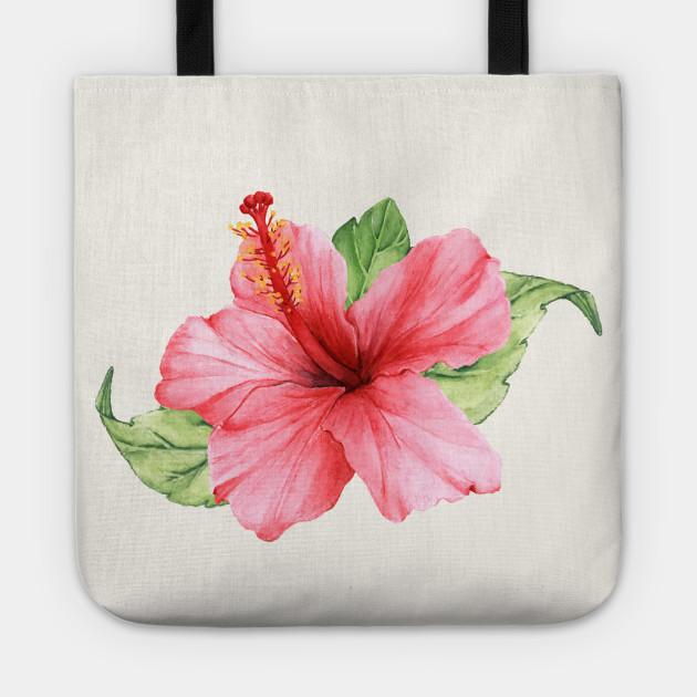 Pink Hibiscus Flower Pink Hibiscus Tote Teepublic