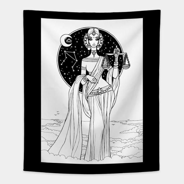 Indian Libra In Black Design