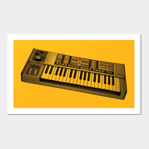 Moog Source 8 bit Synthesizer Tee - Synthesizer - Wall Art   TeePublic
