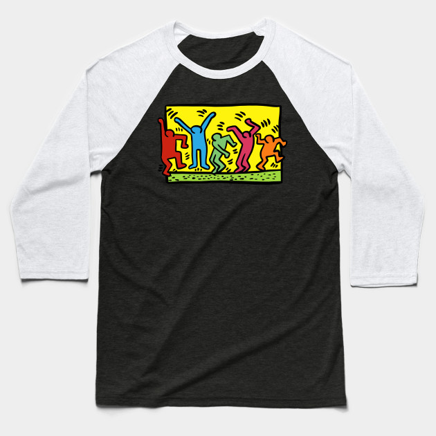 Keith Haring Figures Baseball T-Shirt