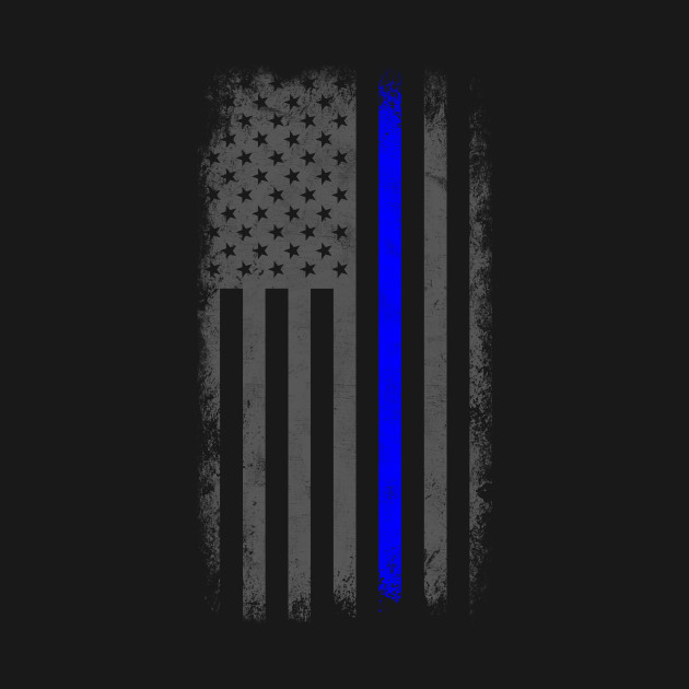 Blue Line Wallpaper: Vertical Thin Blue Line American Flag