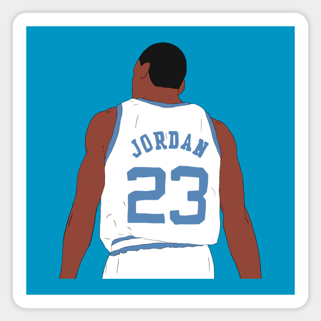 Pancia essenza tassa di iscrizione  Michael Jordan North Carolina Back-To - Michael Jordan - Sticker | TeePublic