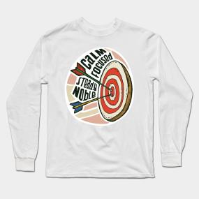 604f1dbb16c Archery Target Long Sleeve T-Shirt. by fogel