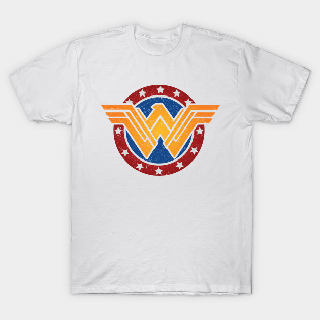Wonder Woman Modern Classic Mash-Up T-Shirt-TOZ