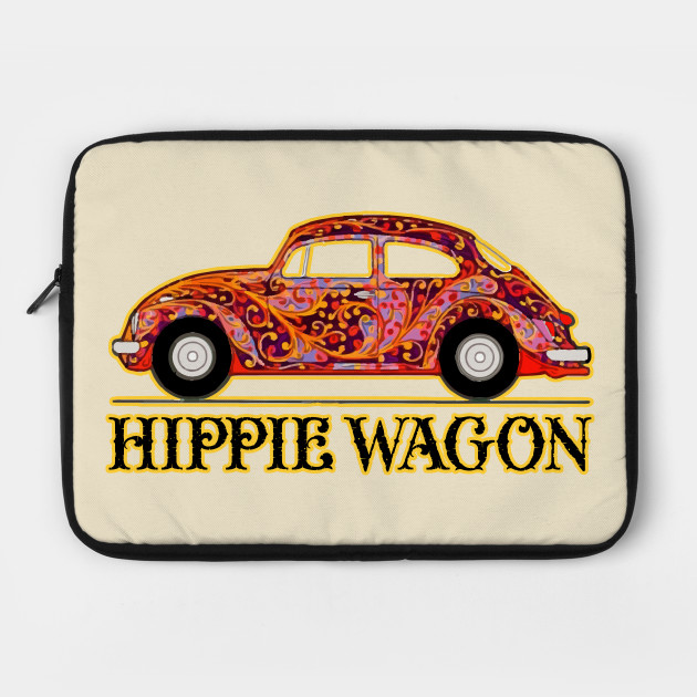 Hippie Wagon Volkswagen Beetle Laptop Case Teepublic