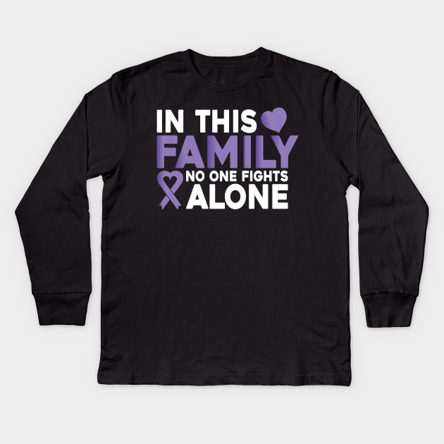 In This Family No One Fights Alone Colon Cancer Shirt Colon Cancer Awareness Shirts Funny Colon Cancer Shirt Cancer T Shirt Colon Cancer Survivor Fight Colon Cancer Cancer Shirt Colon Cancer