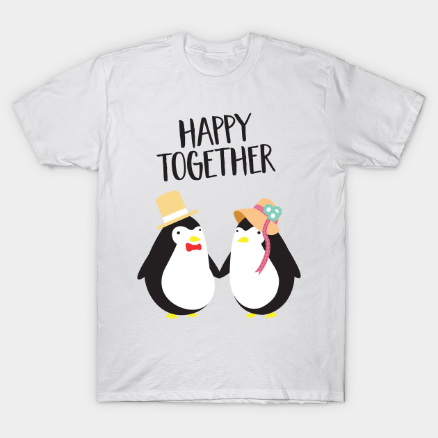Happy Together Cute Penguin Couple