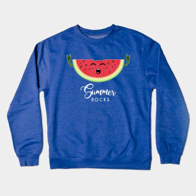 3a64b4f581d Summer rocks - Funny Watermelon Rock Hand Festival T Shirt ...