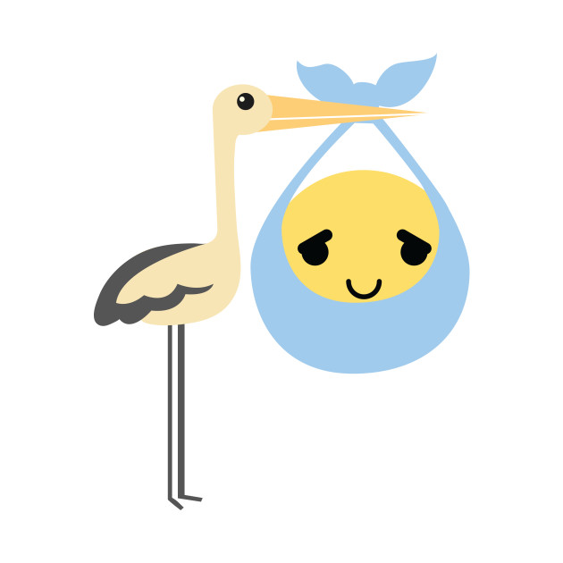 Stork Emoji Pretty Please