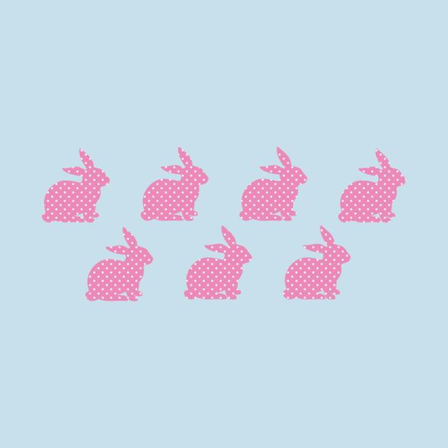 Whoa, baby! Pink Bunny Wallpaper