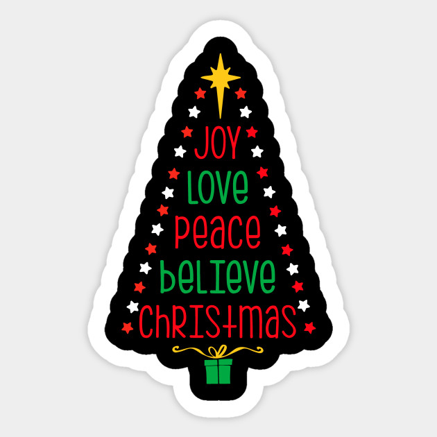 Peace Christmas Tree Topper.Joy Love Peace Believe Christmas Tree Shirt Holiday Spirit Xmas Gift