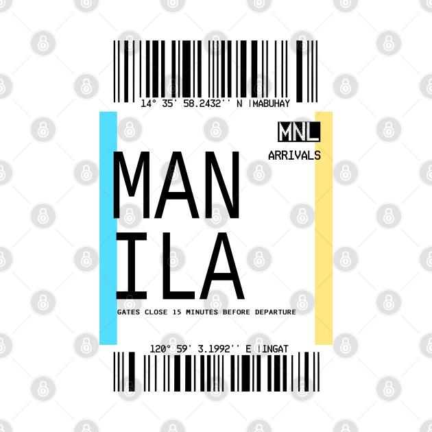 MANILA PLANE TICKET PHONE CASE FILIPINO