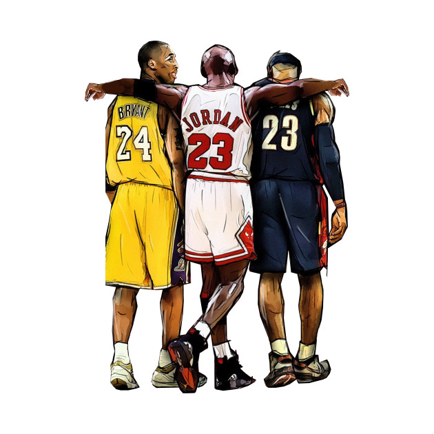 3ea0af729ee Kobe Bryant x Michael Jordan x Lebron James - Nba - T-Shirt | TeePublic