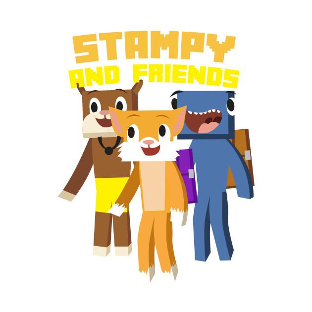 Minecraft Youtuber Stampy Cat, iBallisticsquid, L for Lee x Stampylongnose T-Shirt