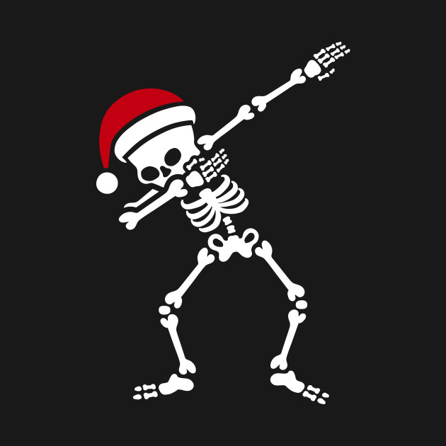 Santa Dab Dabbing Skeleton Christmas T Shirt Teepublic