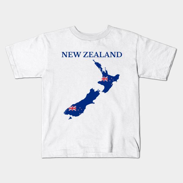 New Zealand text Kids T-Shirt
