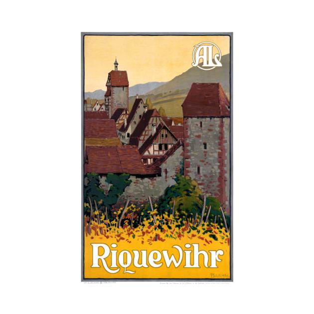 Vintage Travel Poster France Riquewihr