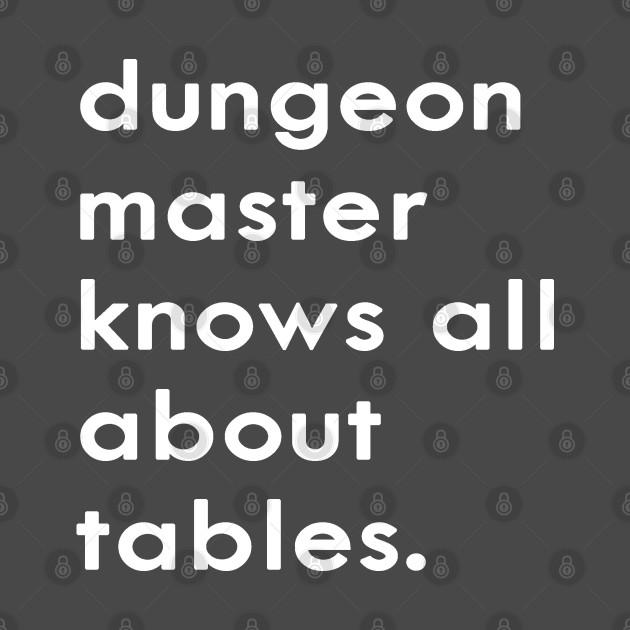 DM Knows Tables