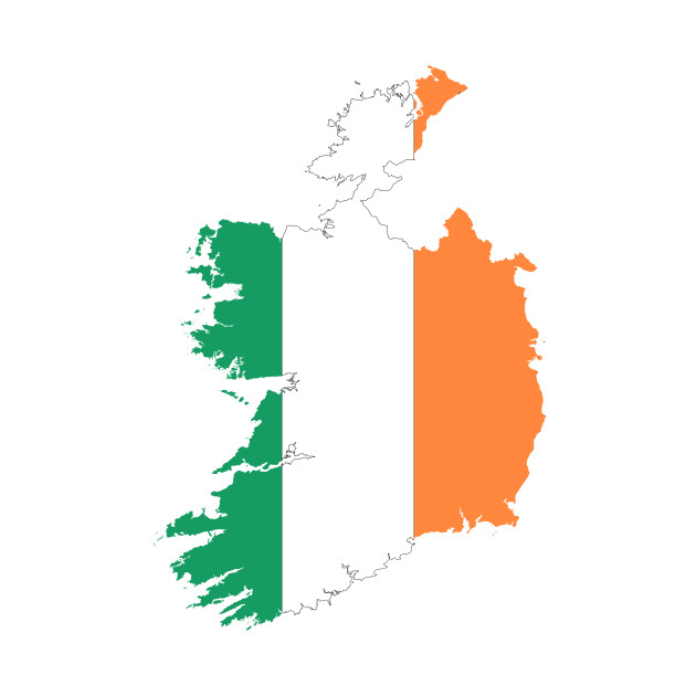 Kids Map Of Ireland.Limited Edition Exclusive Republic Of Ireland Map Flag Republic