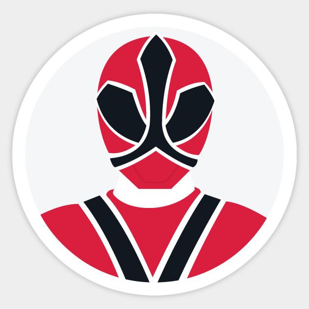 Red Samurai Ranger Power Rangers Sticker Teepublic
