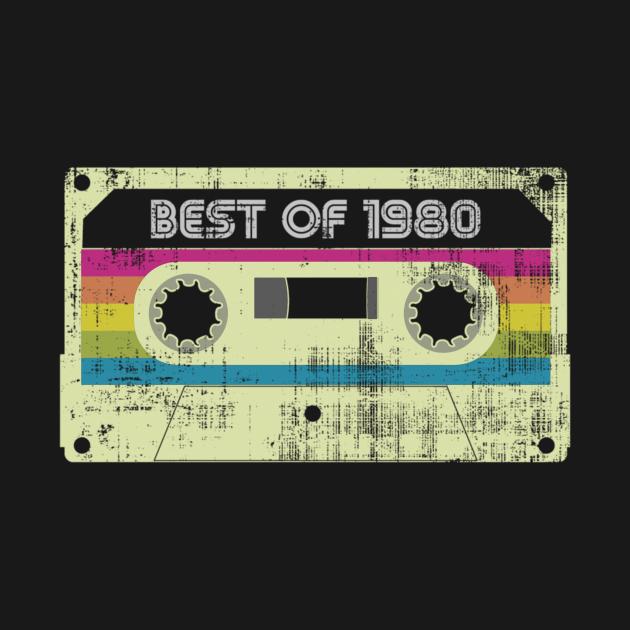 Born in 1980 Best Of 1980 Vintage Cassette 80S Birthday PartyGift Tee Long Sleeve Hoodie Sweatshirt