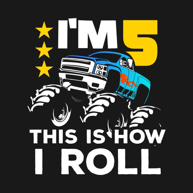 Monster Trucks 5th Birthday Gift   Big Trucks