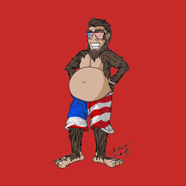 Patriotic Bigfoot