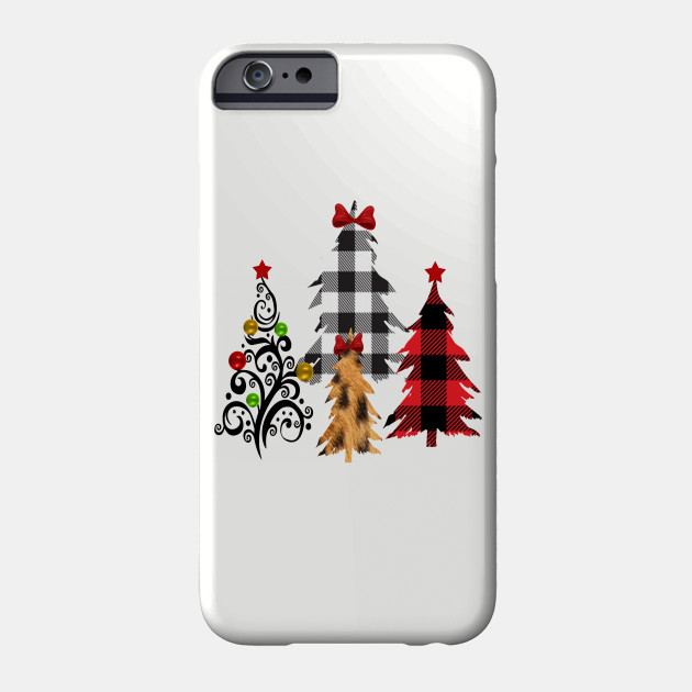 christmas shirt for woman, Cheetah Christmas Shirt, Buffalo Plaid Christmas Shirt, Womens Christmas Shirt, leopard christmas shirt Phone Case