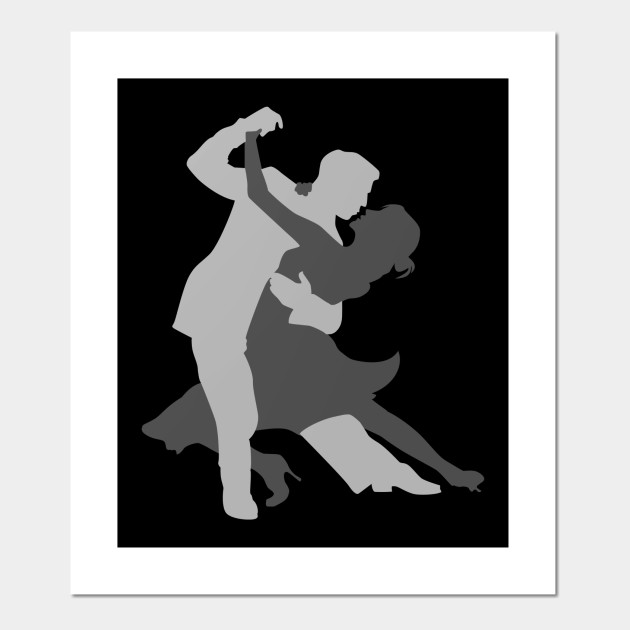 Ballroom Dancing Silhouette Competitive Dance Sport Ballroom Posters And Art Prints Teepublic Au