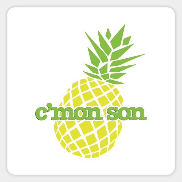 Psych C\u2019Mon Son Catchphrase Bubble-free sticker