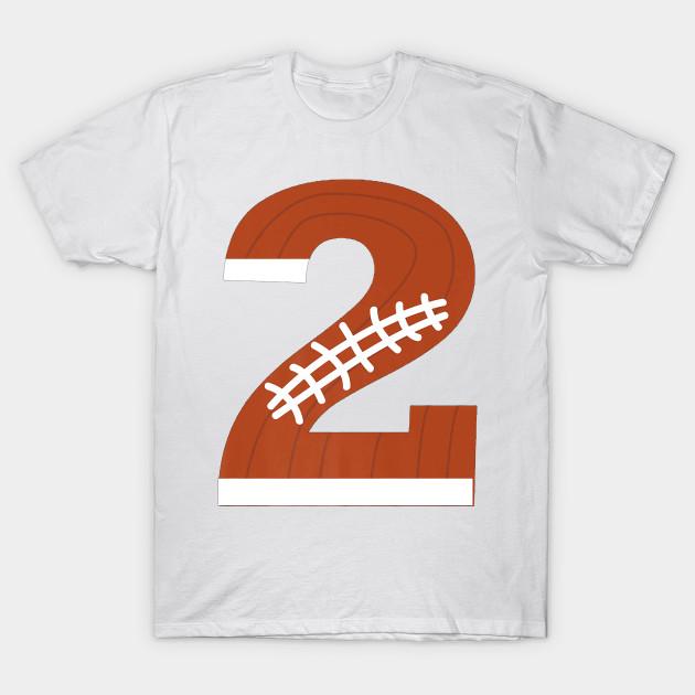2nd Birthday Football Ball Boys 2 Year Old T Shirt Gift