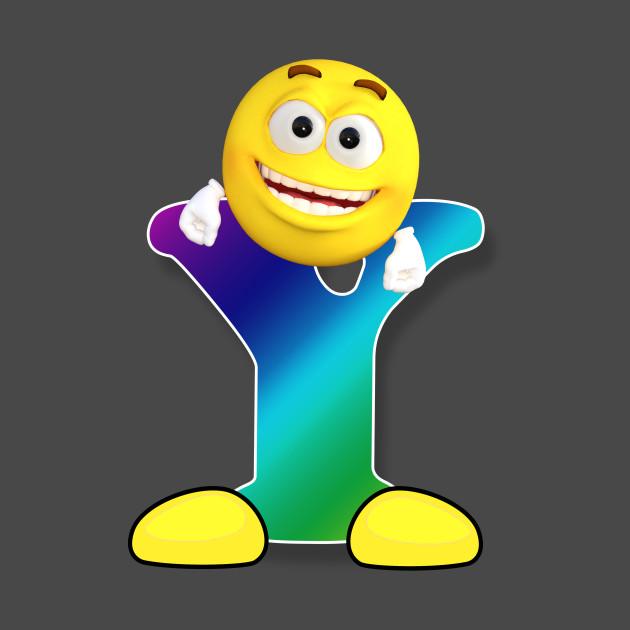 Letter Y Alphabet Smiley Monogram Face Emoji Shirt For Men