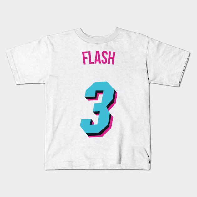 official photos b7fba e4a80 Dwyane Wade 'Flash' Nickname Jersey - Miami Heat