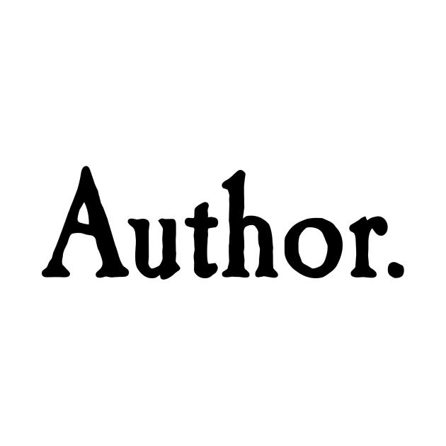 Author. black text