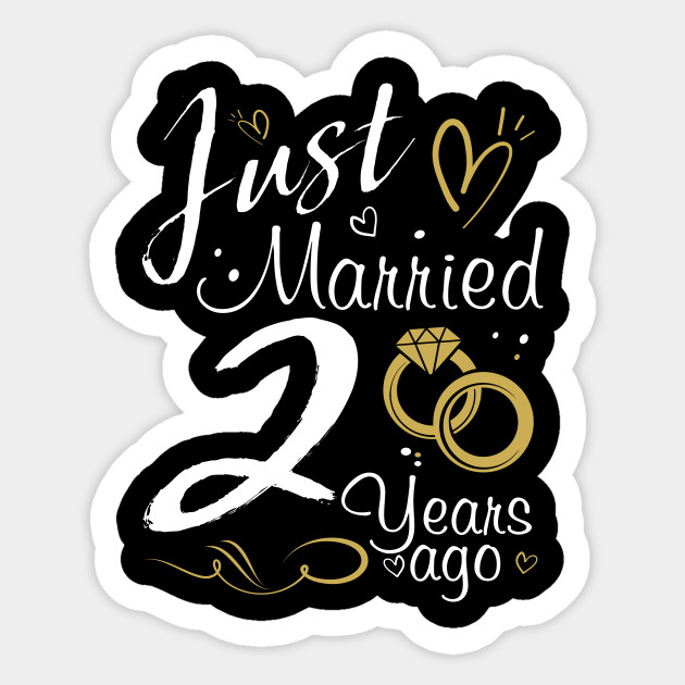 2nd Wedding Anniversary Just Married 2 Years Ago 2nd Wedding Anniversary Gifts Sticker Teepublic Uk