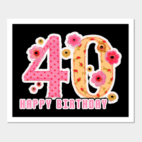 40th birthday party posters and art prints teepublic