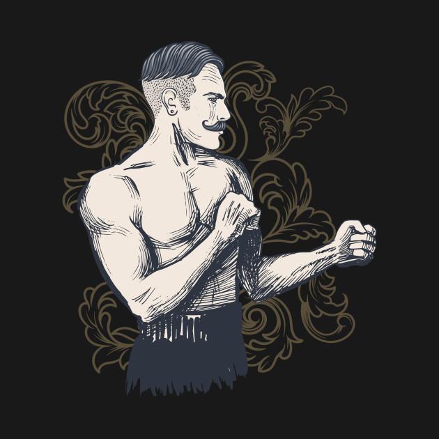 Old Vintage Hipster Bare Knuckle Fighter