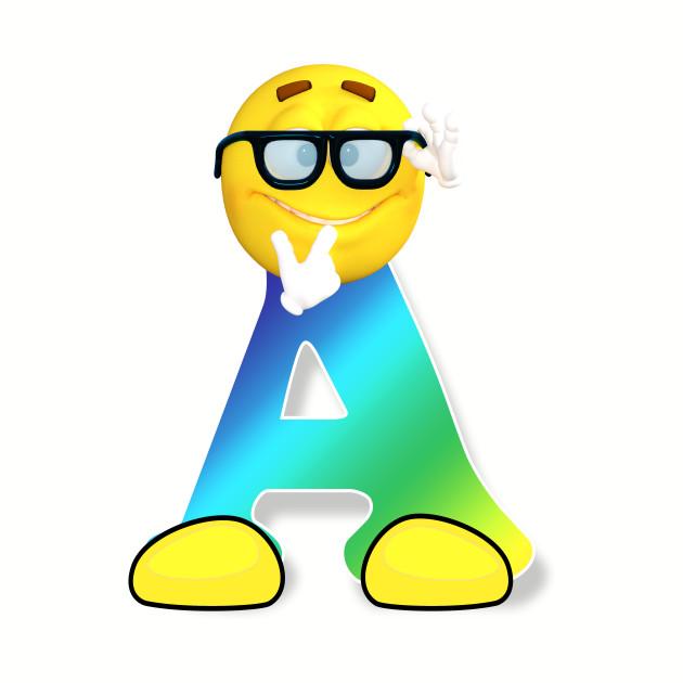 8dd411cc Letter A Alphabet Smiley Monogram Face Emoji Shirt for Men Women Kids -  Emoticon - T-Shirt | TeePublic