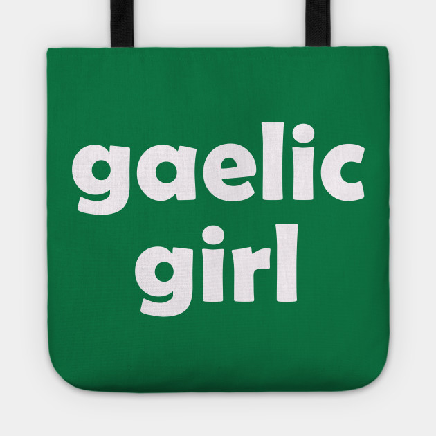 Irish Gaelic Girl For St Patricks Day