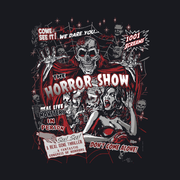 Horror movie Monsters spook show