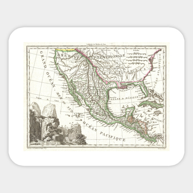 Map Of Texas Mexico.Vintage Map Of Texas And Mexico Territories 1810