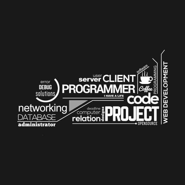 Programmer t-shirt: typography programming - 2