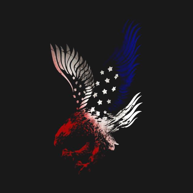 Patriotic Shirt Eagle American Red White Blue Tshirt Tee Usa