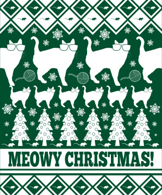 Meowy Christmas - Ugly Christmas Shirt - Holiday - Crewneck ...
