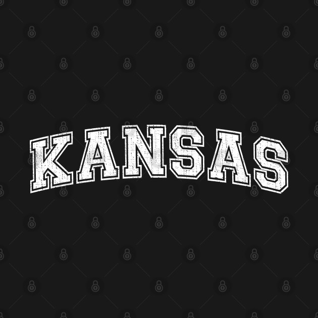 Vintage University-look Kansas Distressed College Design