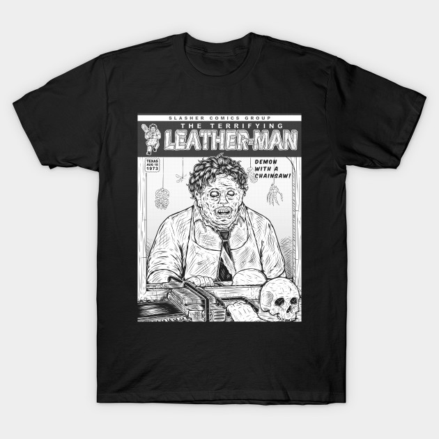 SLASHER 1 INK LEATHER MAN T-Shirt-TOZ
