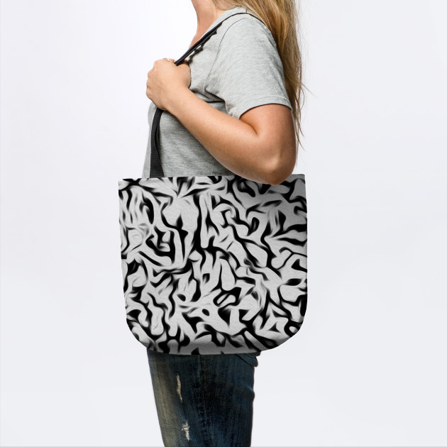 Abstract Black and Off White Camo Pattern