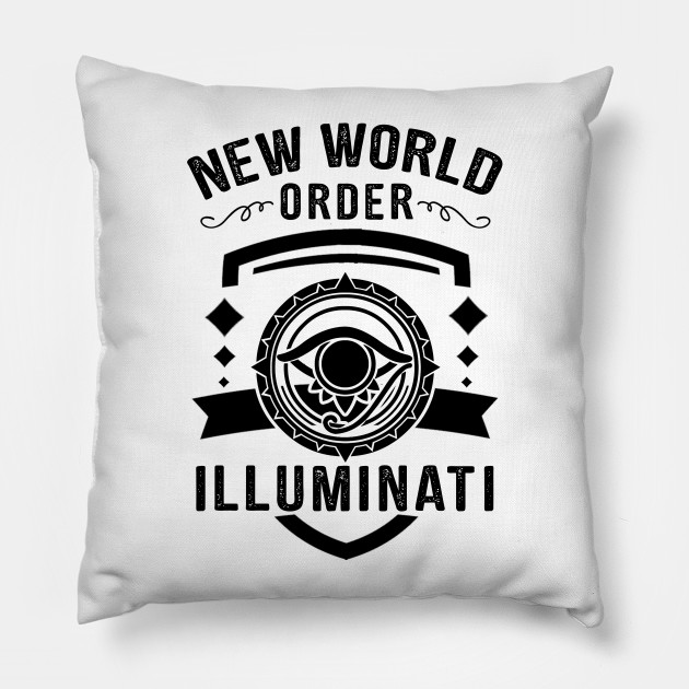 illuminati new world order conspiracy theory conspiracy pillow