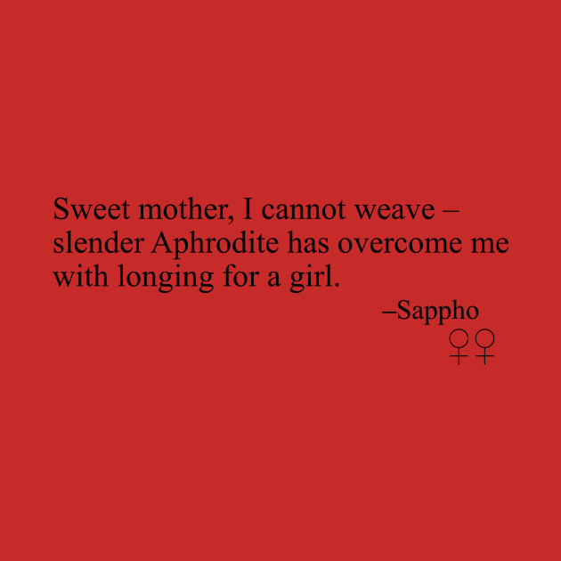 Sappho Poem (Sweet mother, I cannot weave)