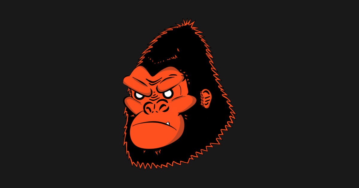 Red gorilla gorilla posters and art teepublic